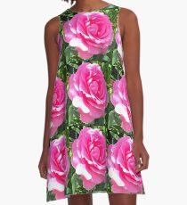 Blush Pink Rose A-Line Dress
