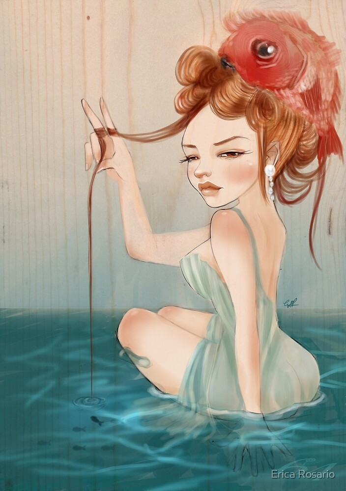 Drawing Day  | Girl 64 : The other fish in the sea by Erica Rosario