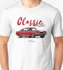 Classic Muscle. 1967 Mustang Shelby GT500 (red) T-Shirt