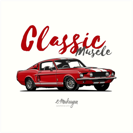 Classic Muscle. 1967 Mustang Shelby GT500 (red)\