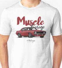 Muscle Garage. Camaro SS 1969 (red) Unisex T-Shirt