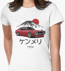 Nissan Skyline GTR Kenmeri (red) Womens Fitted T-Shirt