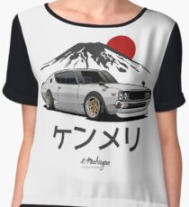 Nissan Skyline GTR Kenmeri (white) Chiffon Top