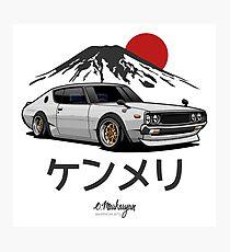 Skyline GTR Kenmeri (white) Photographic Print