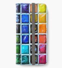 Malkasten iPhone Flip-Case/Hülle/Klebefolie