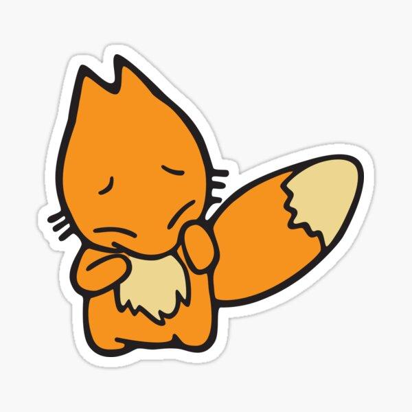 Scaredy Fox  Sticker