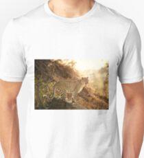 female leopard at sunset T-Shirt