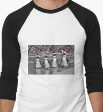 Penguins with Santa Claus caps T-Shirt