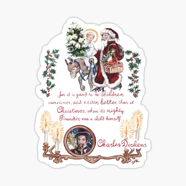 Dickens and Christmas Sticker
