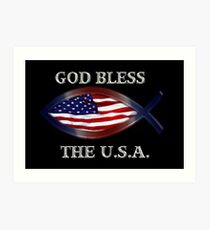 *★.• ╬ ╬ GOD BLESS THE U.S.A. PICTURE/CARD- CREATED BY RAPTURE777 *★.• ╬ ╬  Art Print