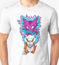 The Haunting -  Cubone & Haunter Fanart Slim Fit T-Shirt