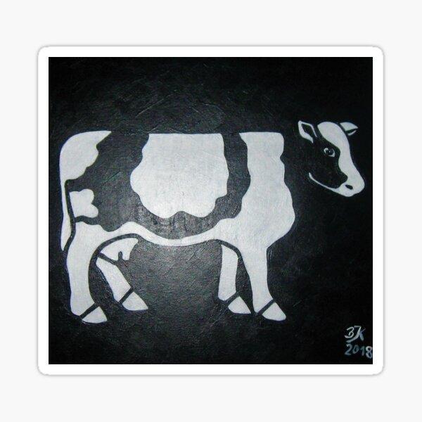 Kuh, schwarz weiß Sticker