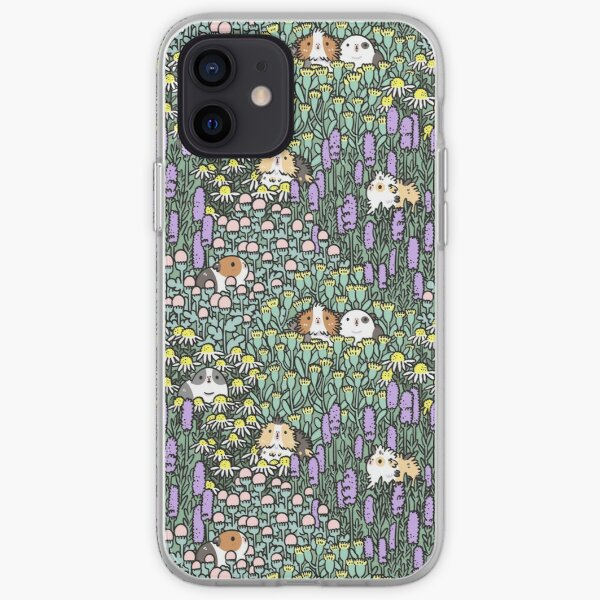 Guinea pigs and garden herbs pattern iPhone Soft Case