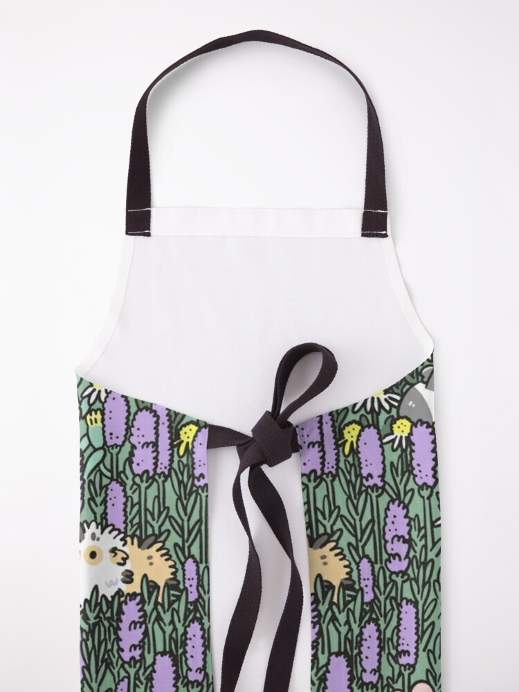 Alternate view of Guinea pigs and garden herbs pattern Apron
