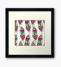 Hippie Feathers Framed Print