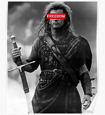 BRAVEHEART - freedom obey Poster