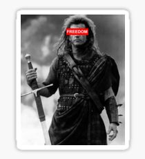 BRAVEHEART - freedom obey Sticker