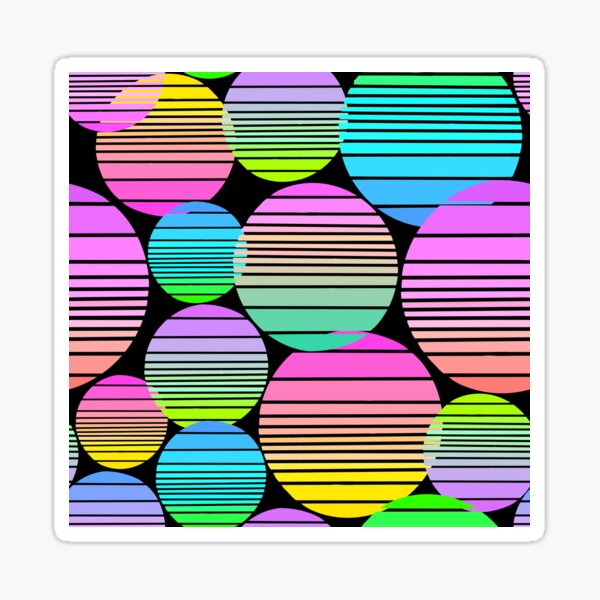 Sunset Orbs Sticker