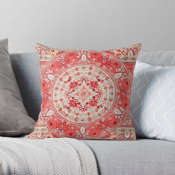 Boho Oriental Traditional Floral Moroccan Style Throw Pillow