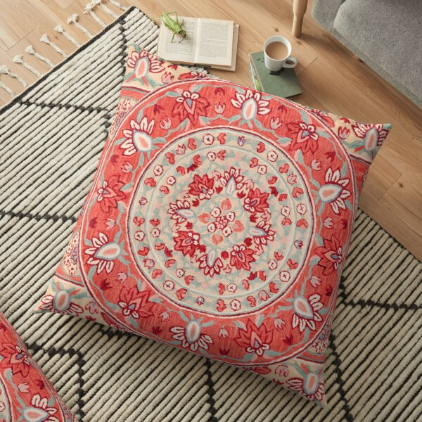 Boho Oriental Traditional Floral Moroccan Style Floor Pillow