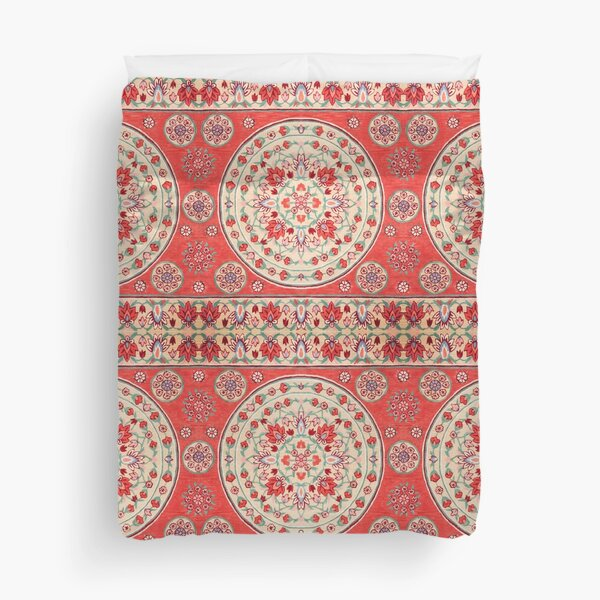 Boho Oriental Traditional Floral Moroccan Style Duvet Cover