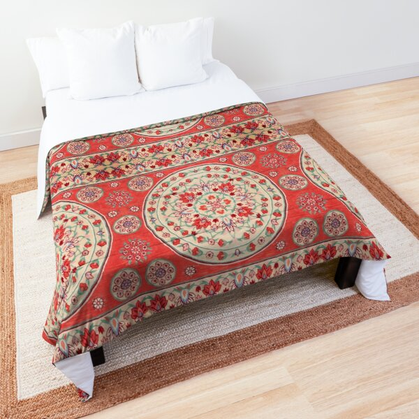Boho Oriental Traditional Floral Moroccan Style Comforter