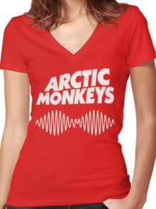 Arctic monkey Women's Fitted V-Neck T-Shirt