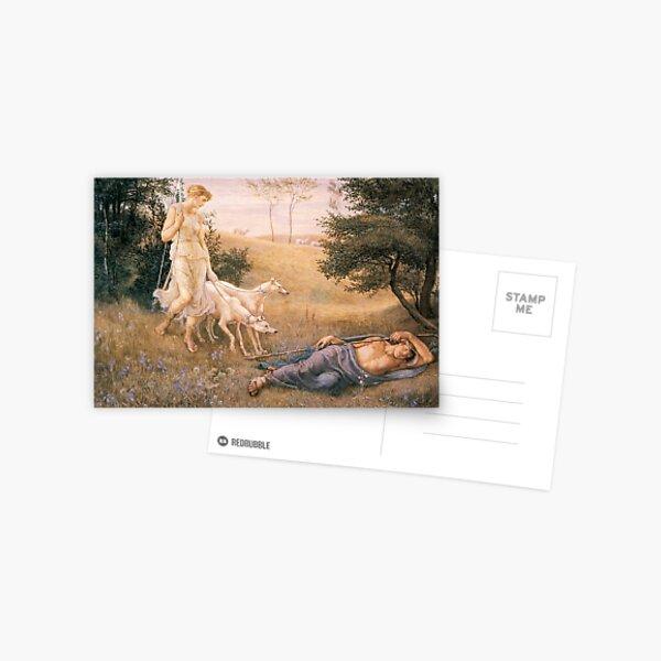 Diana and Endymion_Walter Crane  British artist (1845-1915) Postcard