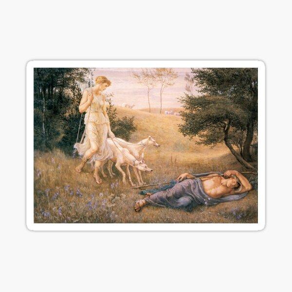 Diana and Endymion_Walter Crane  British artist (1845-1915) Sticker