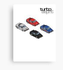 8 bit Lotus Esprit Turbo Pixel (black logo)  Canvas Print
