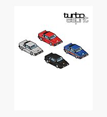 8 bit Lotus Esprit Turbo Pixel (black logo)  Photographic Print