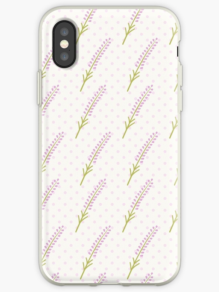 Cute Lavender Seamless Dot Pattern Pretty French Background Pastel Wallpaper Iphone Case By Illucesco