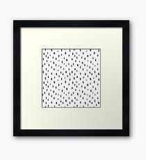 black brush print pattern, hand-drawn Framed Print