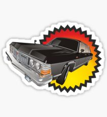 Retro limousine Sticker