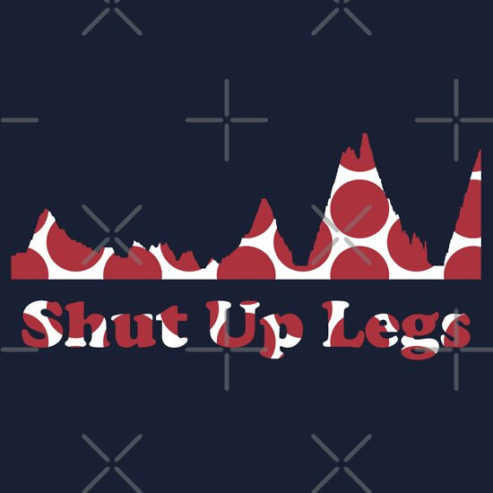 TShirtGifter presents: Shut Up Legs Red Polka Dot Mountain Profile | Unisex T-Shirt