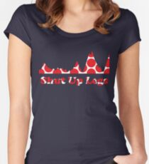 Shut Up Legs Red Polka Dot Mountain Profile Women's Fitted Scoop T-Shirt