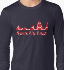 Shut Up Legs Red Polka Dot Mountain Profile Long Sleeve T-Shirt