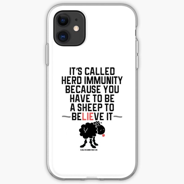 Herd Immunity Sheep iPhone Soft Case