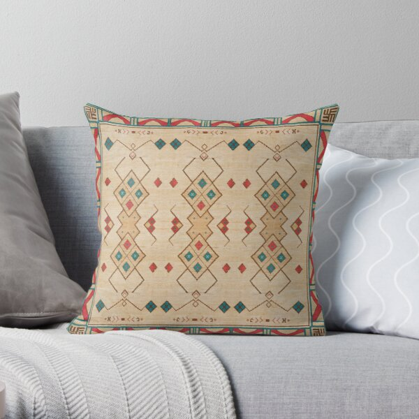Oriental Bohemian Traditional Moroccan Style Throw Pillow