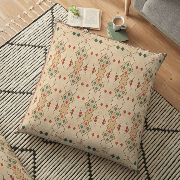 Oriental Bohemian Traditional Moroccan Style Floor Pillow