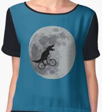 Tyrannosaurus rex bicycle moon Chiffon Top