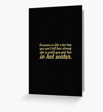 "A women is... ""Eleanor Roosevelt"" Inspirational Quote Greeting Card"