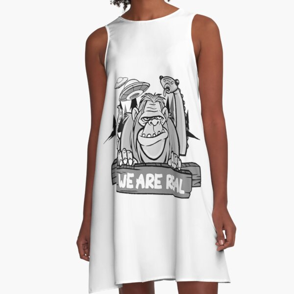 we are real nessie loch ness monster bigfoot ufo A-Line Dress