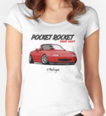 MX-5 Miata (red) Women's Fitted Scoop T-Shirt
