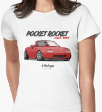 MX-5 Miata (red) Women's Fitted T-Shirt