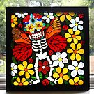 Day of the Dead Butterfly Mosaic  by WonderMeMosaics