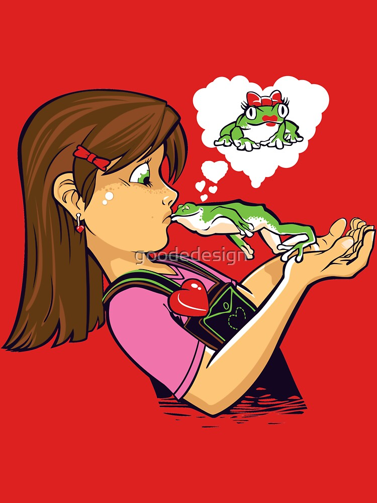 frog prince princess kiss  by goodedesign