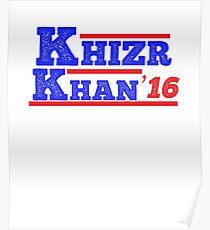 Khazr Khan - Support Gold Star Families Poster