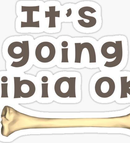 Tibia Bone Pun  Sticker