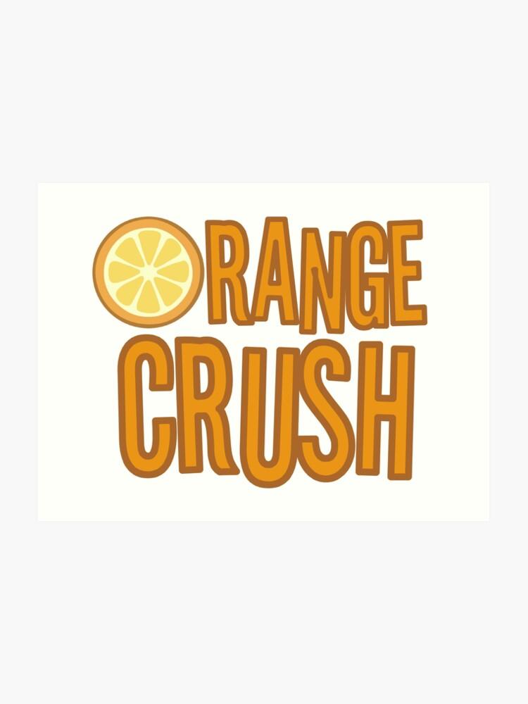 Orange Crush REM Song Lyrics Rock Music Fruit | Art Print
